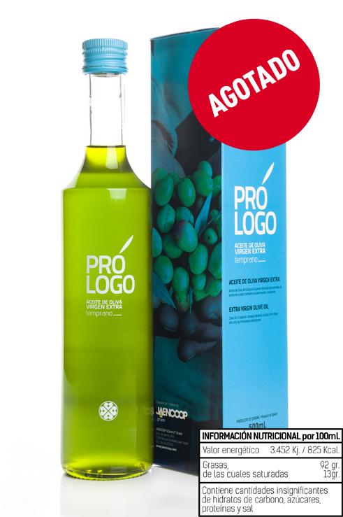 PRÓLOGO Aceite de Oliva Virgen Extra Temprano_ Cristal 500ml