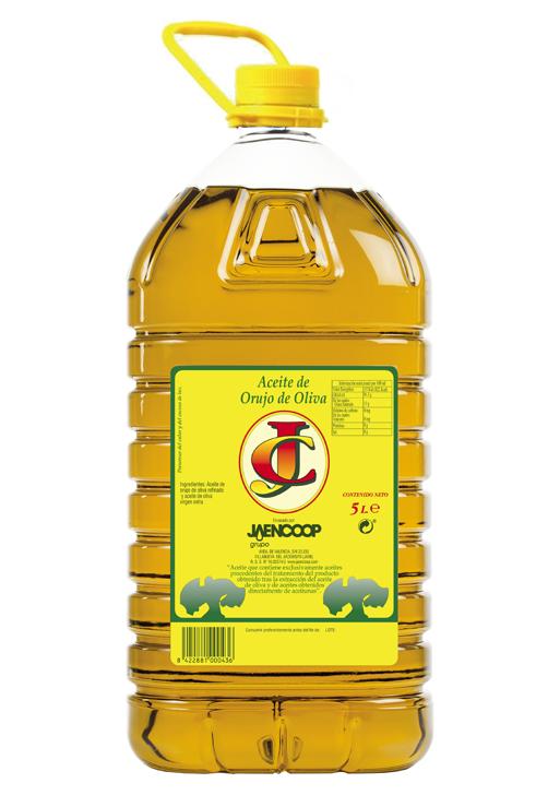 Aceite de Orujo de Oliva Garrafa Pet 5L Orujo de Oliva